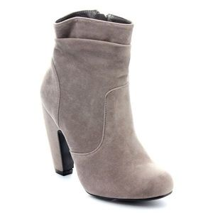 Shoes - Grey Suede Slouchy Boots